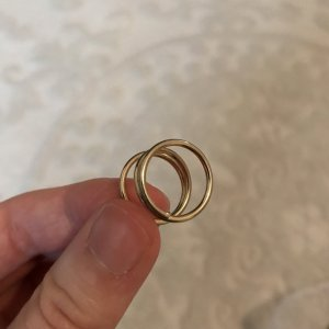 Goldener Spiral-Knöchel-Ring