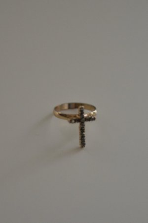 Statement Ring gold-colored-anthracite