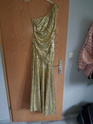 100 One Shoulder Dress gold-colored