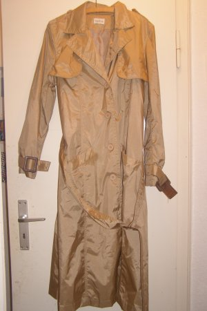 goldener Vintage Mantel mit Taillengürtel
