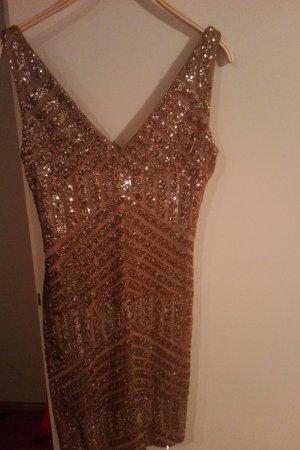 Goldenes Abendkleid mit Pailletten.Neu!