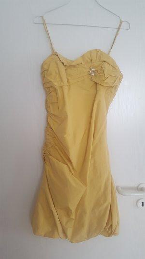 Goldenes Abikleid / Abendkleid Gr. 34