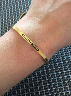 "Goldenes Armband ""Love"" von Asanayoga"