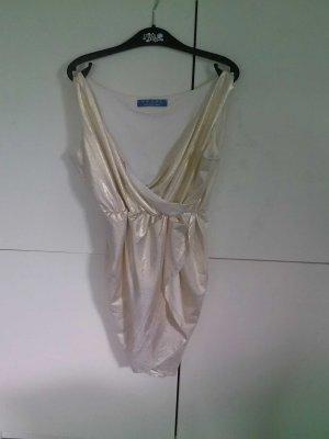 goldenes Kleid  Größe M in wickeloptik