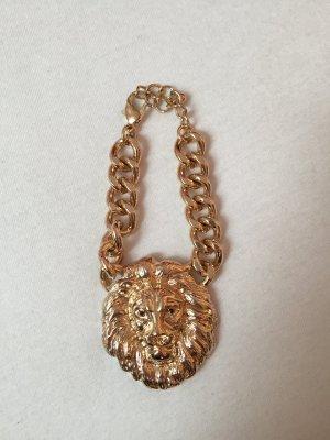goldenes Löwenkopf Gliederarmband