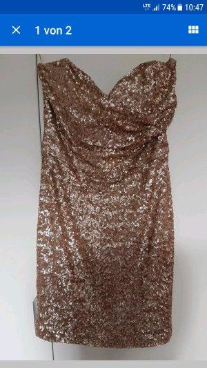 Goldenes Mini Kleid von Orsay Größe 36 wie neu