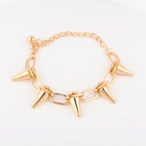 Goldenes Nieten-Armband