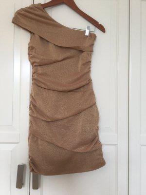 Goldenes one-shoulder Kleid von Paprika