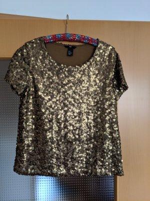 goldenes Pailletten T-Shirt