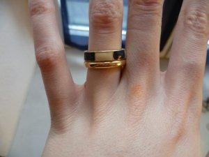 Goldenes Ring-Set, Streifen, Basic, Boho