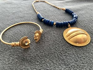Gold Chain gold-colored-blue