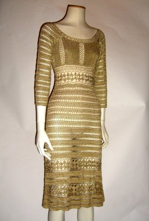 Goldenes Strickkleid Dolce & Gabbana