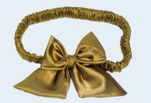 goldenes Strumpfband - Satin