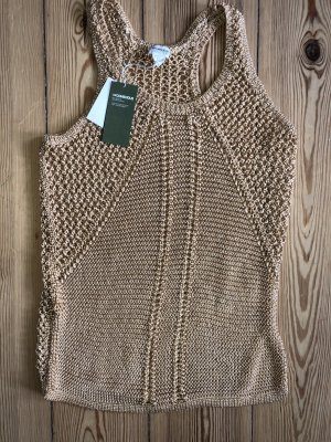 H&M Conscious Collection Knitted Top gold-colored-bronze-colored