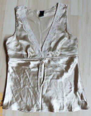 goldenes Vero Moda Shirt mit V-Ausschnitt Größe S
