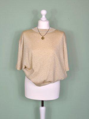 Goldenes Vintage Oberteil / Shirt mit Ausstanzungen / Cutouts