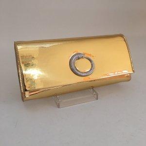 Goldfarbene Clutch von Roberto Cavalli