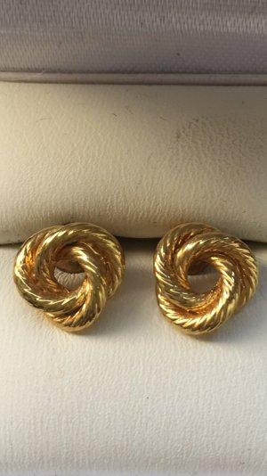 Goldfarbene Damen Ohrringe neuwertig