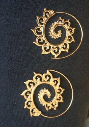 Goldfarbene Ohrringe Boho Style
