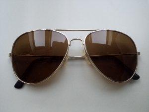 Goldfarbene Piloten Sonnenbrille