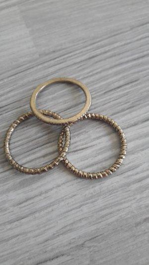 goldfarbene Ringe 3er Pack von H&m