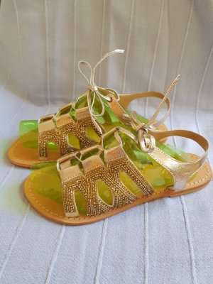 Ovyé Roman Sandals gold-colored