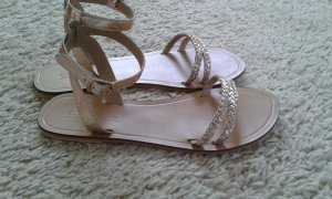 Asos Strapped Sandals gold-colored-beige leather