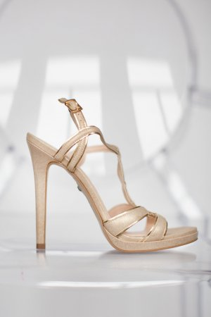 Buffalo High Heel Sandal gold-colored imitation leather