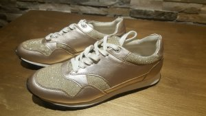 goldfarbene Sneaker Glitzer Gr 39 Neu