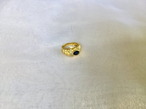 Ring gold-colored-dark blue