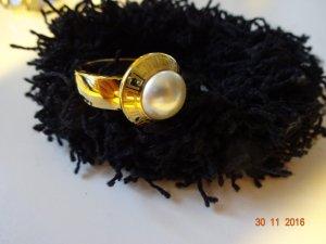 goldfarbiger Ring von Jaques Lemans