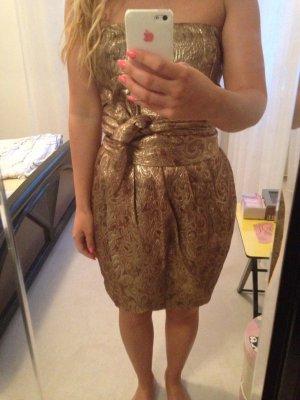 Goldfarbiges Kleid von Mango Moments!