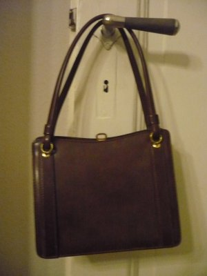 Goldpfeil Frame Bag brown-gold-colored leather