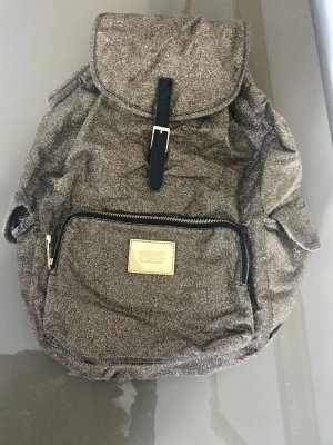 Pink Victoria's Secret Backpack gold-colored