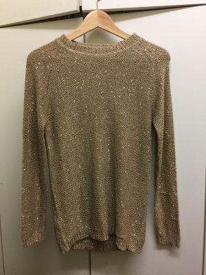 Goldglitzerner Langarmsweater - nur 6€!
