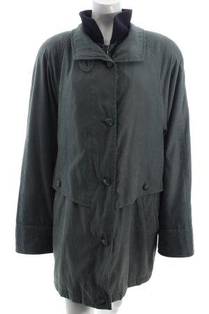 Goldix Jacke graugrün-dunkelblau extravagante Knöpfe