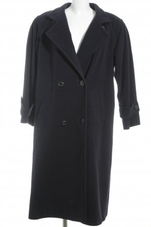 Goldix Cappotto in lana blu scuro soffice