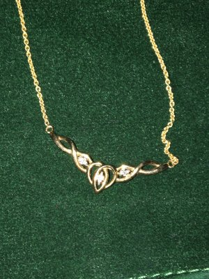 Collier Necklace sand brown real gold