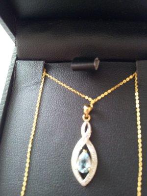 Goldkette Kette Gold Diamanten Topas