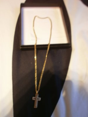 Necklace gold orange real gold