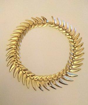 Goldkette Zacken/Blätterdesign