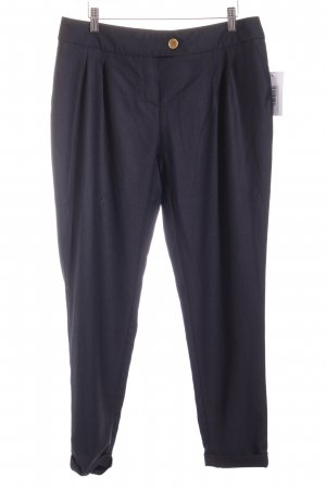 Goldknopf Couture Stoffhose dunkelblau Business-Look