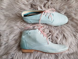 Goldmud Bottines à lacets bleu pâle cuir