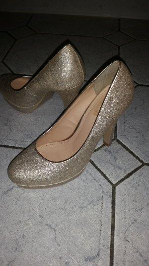 Goldne High Heels