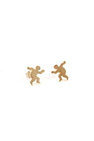Gouden oorbellen goud klassieke stijl
