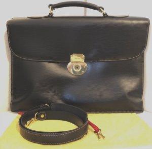 Goldpfeil Aktentasche Börsenkoffer Schwarz Tasche Leder