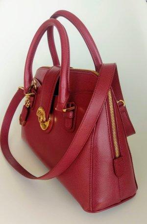 Goldpfeil Damenhandtasche mit Schulterriemen, bordeaux-farben