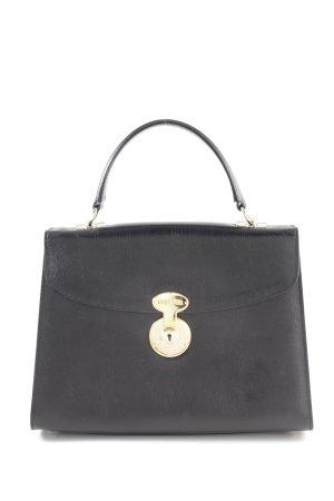Goldpfeil Henkeltasche schwarz klassischer Stil