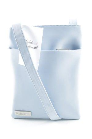 Goldpfeil Stofftasche himmelblau schlichter Stil