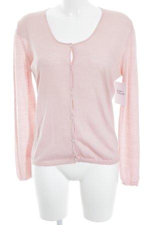Goldpfeil Gilet tricoté rose clair style simple